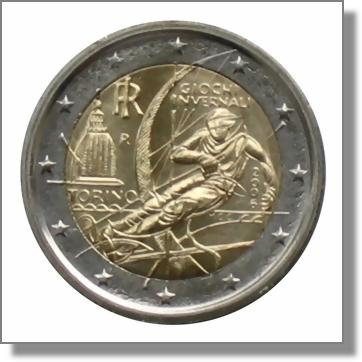 Italien 2 euro gedenkm nze 2006 olympische for Coin torino