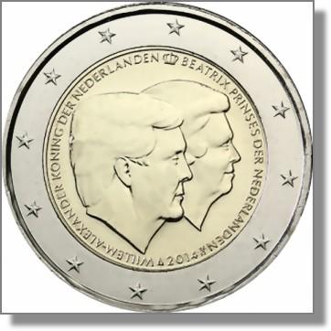 Niederlande 2 Euro Gedenkmünze 2014 Thronwechsel